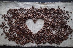 Kaffeeliebesherz Lizenzfreie Stockfotos