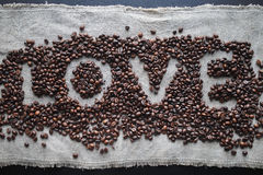 Kaffeeliebesherz Lizenzfreie Stockbilder