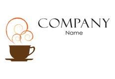 Kaffeelogo-Designschablone lizenzfreie stockfotografie