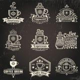 Kaffeelogos Lizenzfreies Stockbild