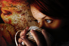 Kaffeemädchen Stockfoto