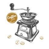 Kaffeemühlekonzept Stockfotos