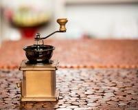 Kaffeemühleschleifer Lizenzfreies Stockfoto