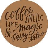 Kaffeemagie Stockfoto