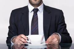 Kaffeemann stockfotografie