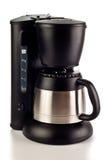 Kaffeemaschine auf Weiß Lizenzfreies Stockbild