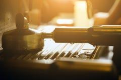 Kaffeemaschineausrüstung Lizenzfreie Stockfotografie
