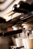 Kaffeemaschinenespresso Stockfotos