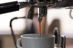 Kaffeemaschinennahaufnahme lizenzfreies stockfoto