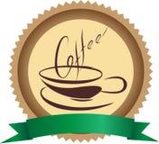 Kaffeemblem royaltyfria foton