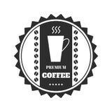 Kaffeemblem, emblem, logo, etikett som isoleras på vit bakgrund vektor royaltyfri illustrationer