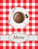 Kaffeemenü Stockfotografie