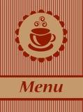 Kaffeemenü Stockbilder