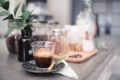 Kaffeemorgenkonzept Stockfoto