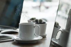 Kaffeemorgenkonzept Lizenzfreie Stockfotos