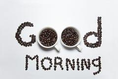 Kaffeemorgenzeit Stockbilder