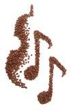 Kaffeemusik Stockbild