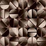 Kaffeemuster im geometrischen Stil Lizenzfreie Stockfotografie