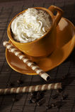 Kaffeenachtisch Stockfotografie