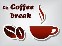 Kaffeepause stock abbildung