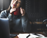 Kaffeepause-Erholungs-Entspannungs-Konzept Stockbilder