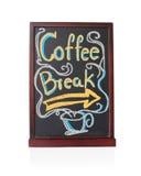 Kaffeepause geschrieben auf Tafel Lizenzfreies Stockbild