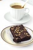 Kaffeepause mit Schokoladenkuchen Stockfotografie