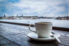 Kaffeepause in Stockholm, Schweden Stockbilder