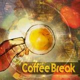 Kaffeepause-Zusammenfassungshintergrund lizenzfreie abbildung
