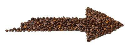 Kaffeepfeil stockbild