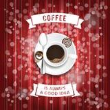 Kaffeeplakatillustration Stockfoto