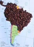 Kaffeeproduzenten in Südamerika Stockfotos