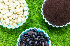 Kaffeepulver Stockfoto