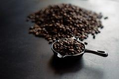 Kaffeeröstung frisch Stockbild