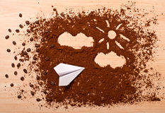 Kaffeereise Stockfoto