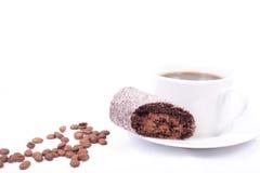 Kaffeerolle Stockbild
