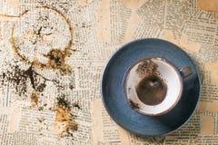 Kaffeesatz Stockfotos