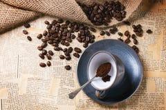 Kaffeesatz Lizenzfreies Stockfoto