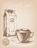 Kaffeesatz auf einem dunklen Hintergrund Lizenzfreies Stockfoto