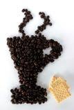 Kaffeeschnitt Lizenzfreie Stockbilder