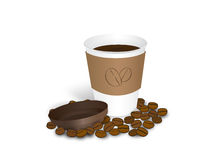 Kaffeeschutzkappe stockfoto