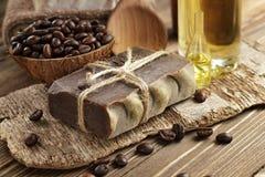 Kaffeeseife Stockfoto