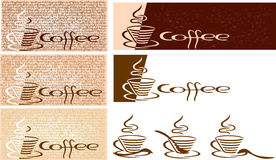 Kaffeeset. Stockfotos