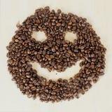 Kaffeesmiley Lizenzfreies Stockfoto