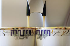 kaffeespresso två arkivfoto