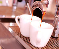 Kaffeespressobakgrund arkivbilder