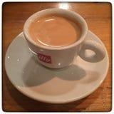 Kaffeespressokopp Arkivfoto