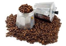 kaffeespressotillverkare Arkivbild