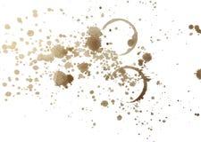 Kaffeespritzen und Fleckillustration Lizenzfreie Stockfotografie
