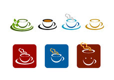 Kaffeestab-Systemvektor brennt Zeichen ein Stockbilder